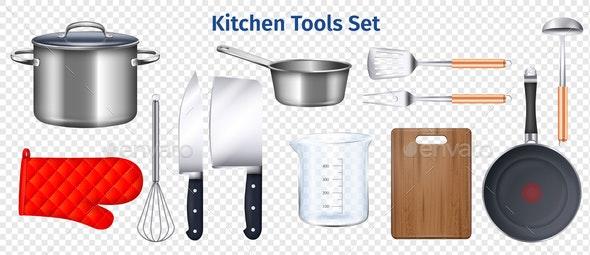 Kitchen Utensils Transparent Set - Food Objects