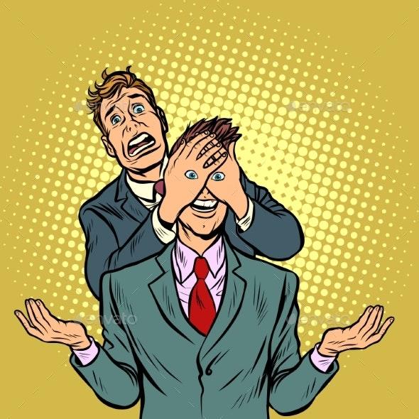 Two Men, a Tempting Surprise - Business Conceptual