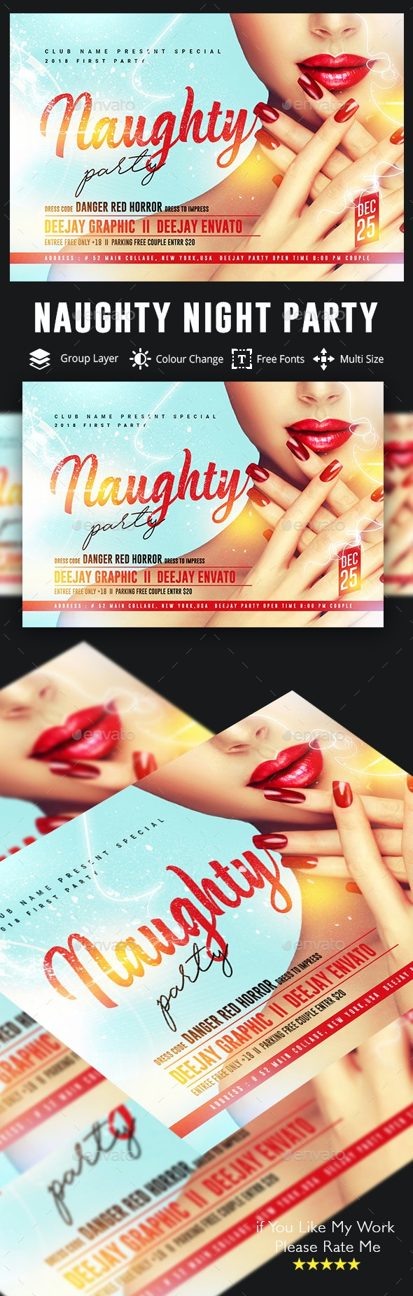 Naughty Party Flyer - Clubs & Parties Events