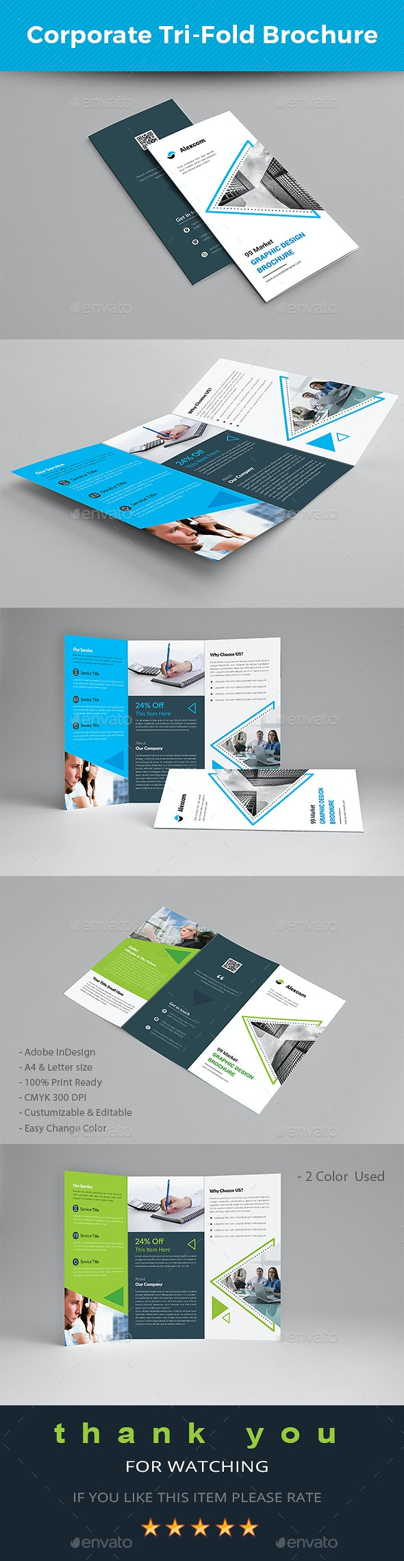 Corporate Tri-fold Brochure - Brochures Print Templates