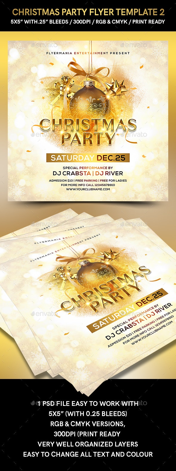 Christmas Party Flyer Template 2 - Flyers Print Templates