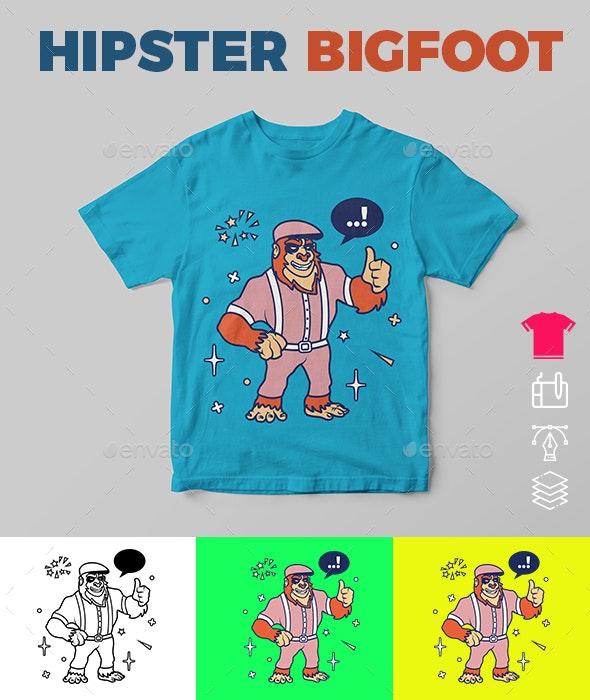 Hipster Bigfoot - Funny Designs