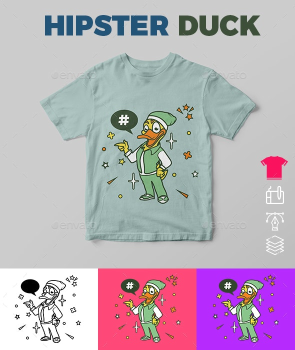 Hipster Duck - Funny Designs