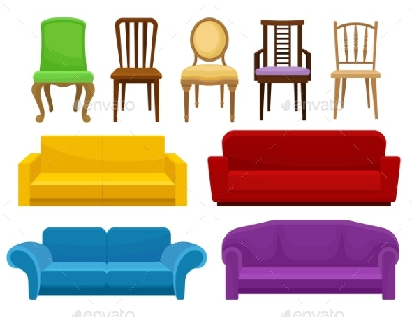Collection of Comfortable Furniture Set - Man-made Objects Objects