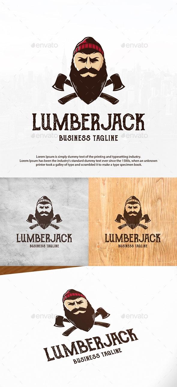 Beard Lumberjack Logo Template - Humans Logo Templates