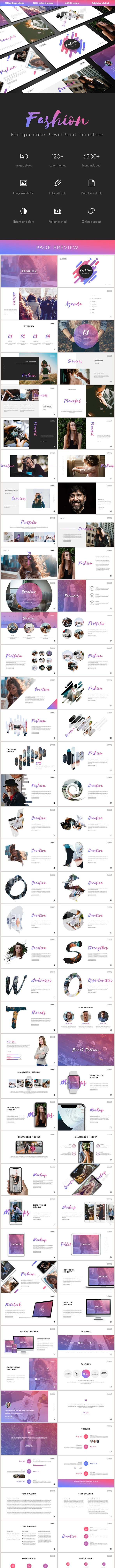 Fashion Multipurpose PowerPoint Template - Business PowerPoint Templates