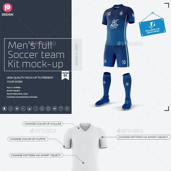 Men's Full Soccer Team Kit Mockup V1