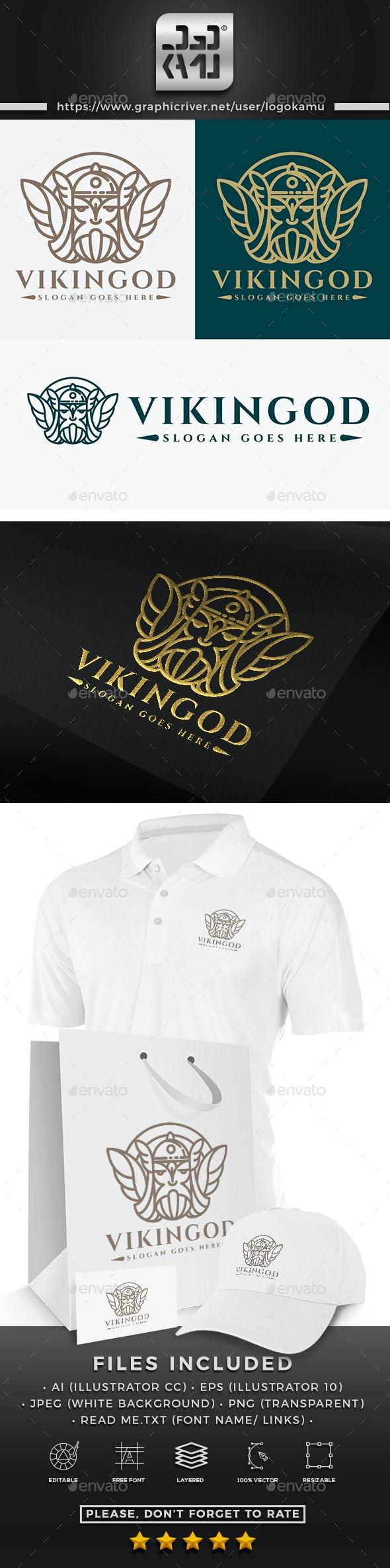 Viking God Logo - Humans Logo Templates