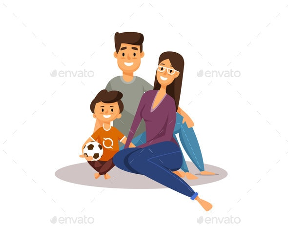 Happy Family - People Characters