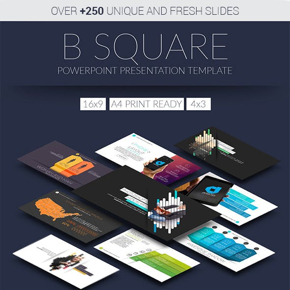 B Square Powerpoint Presentation Template