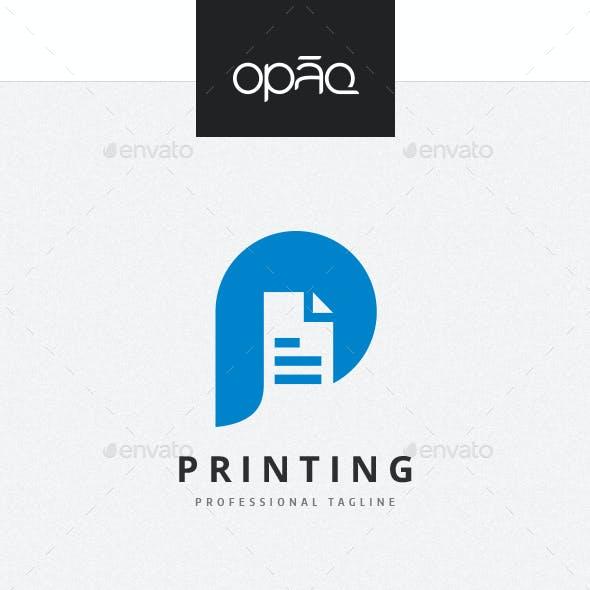 Printing P Letter Logo