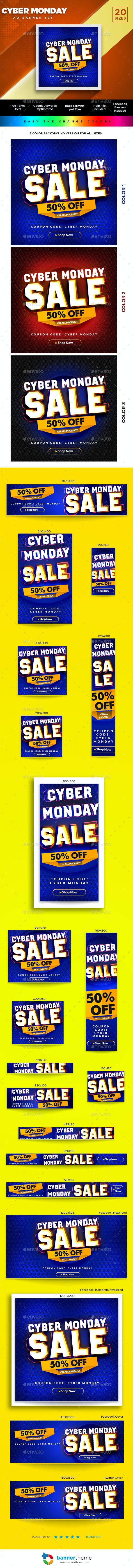 Cyber Monday Banner - Banners & Ads Web Elements