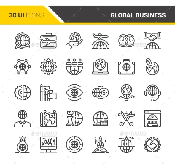 Global Business Icons - Icons