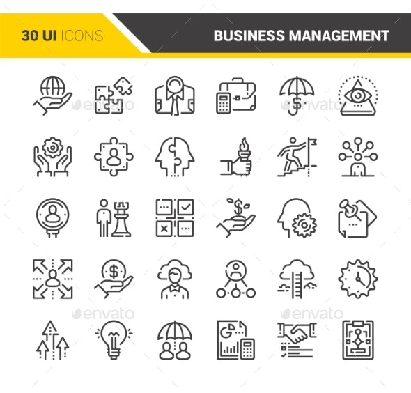 Business Management Icons - Icons
