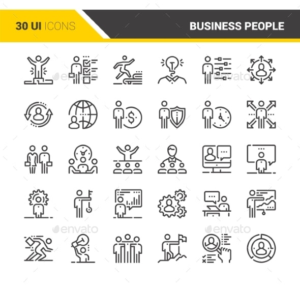 Business People Icons - Icons