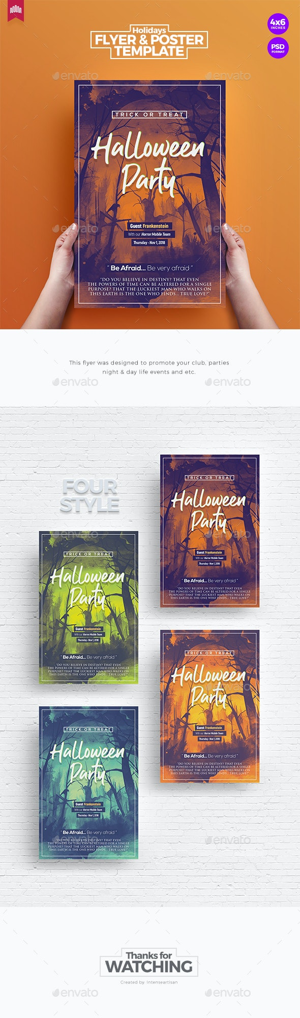 Halloween Party - Flyer Template - Holidays Events