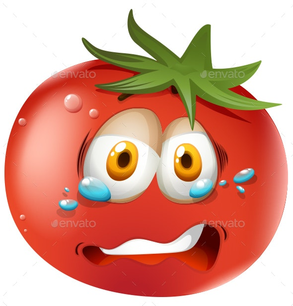 Crying Tomato - Food Objects