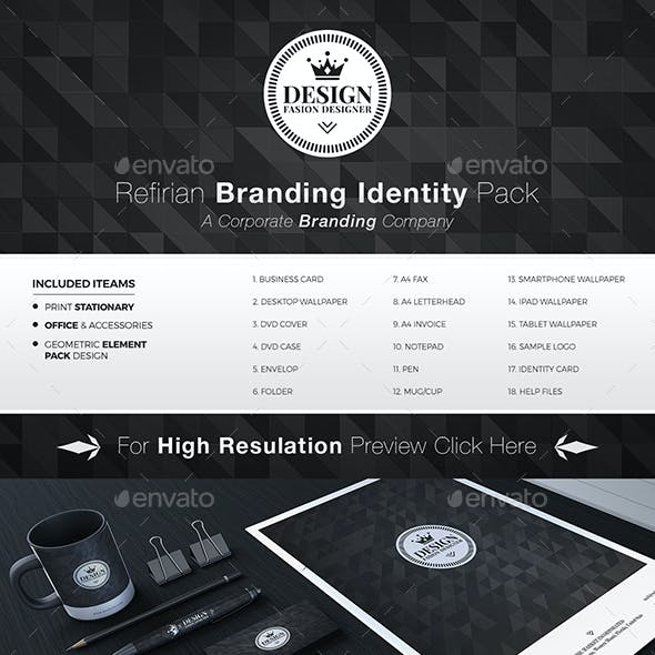 Refirian Branding Stationary Identity