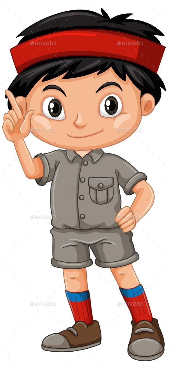 Safari Boy - People Characters