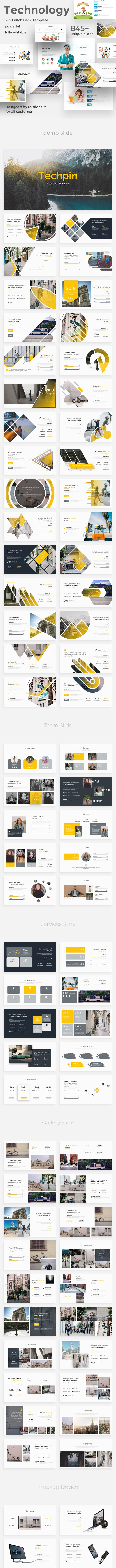3 in 1 Technology Bundle Powerpoint Template - Creative PowerPoint Templates