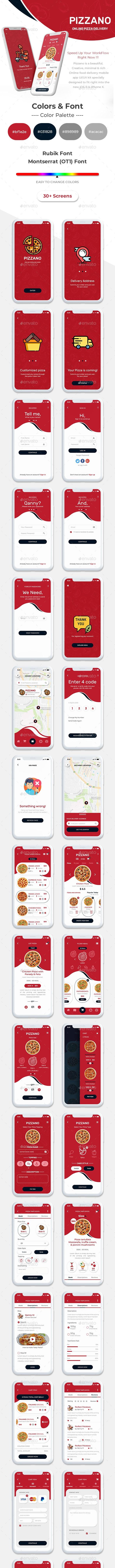 Pizzano UI Kit - User Interfaces Web Elements