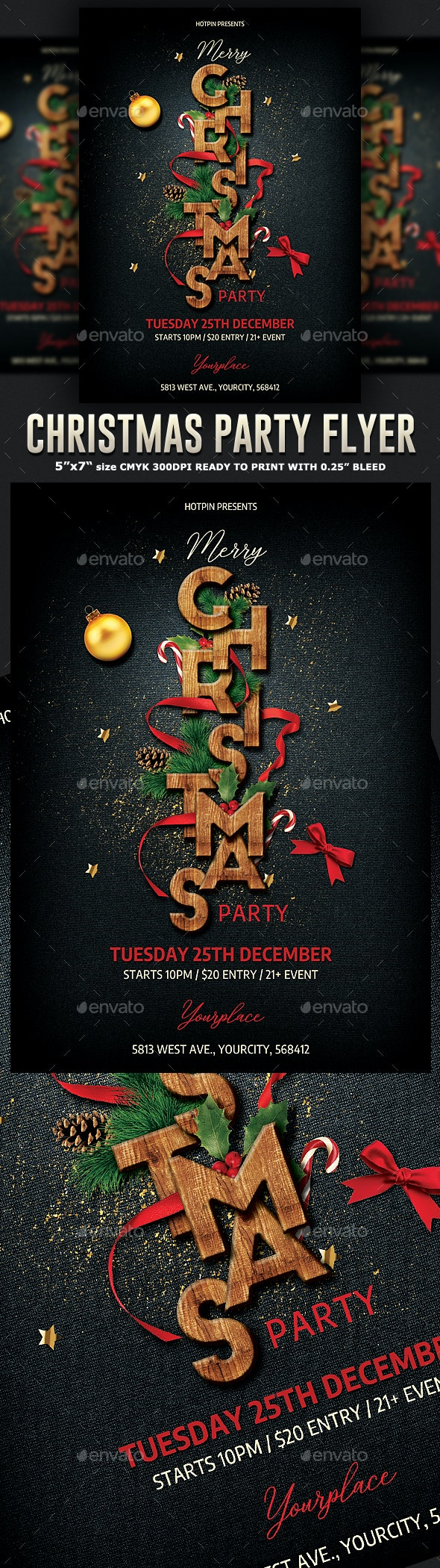 Elegant Christmas Party Flyer - Clubs & Parties Events