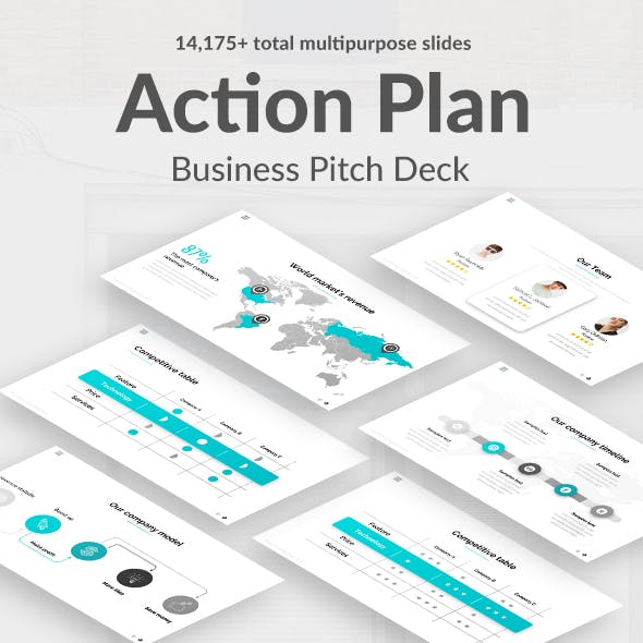 Action Plan Pitch Deck Powerpoint Template