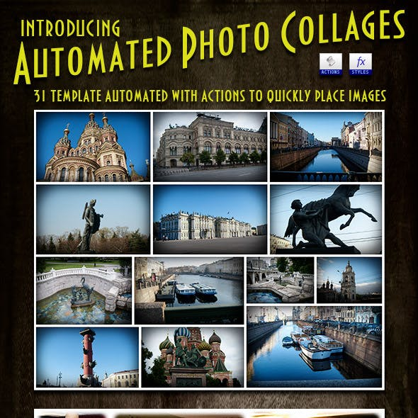 Photo Collages Automated Templates