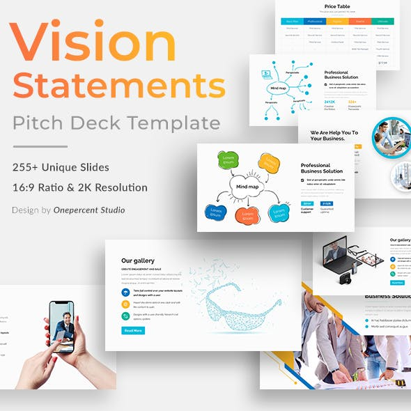 Vision Statements Pitch Deck Powerpoint Template