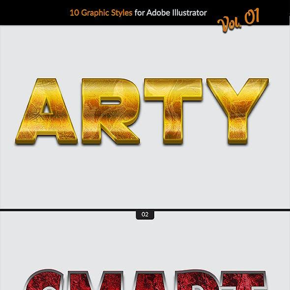 10 Graphic Styles vol. 01