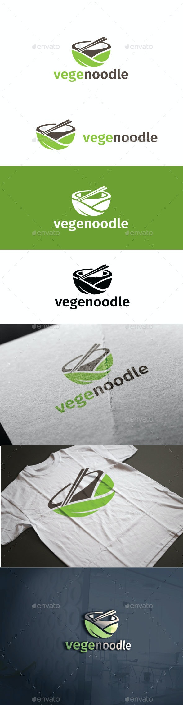 Vegenoodle Logo - Food Logo Templates
