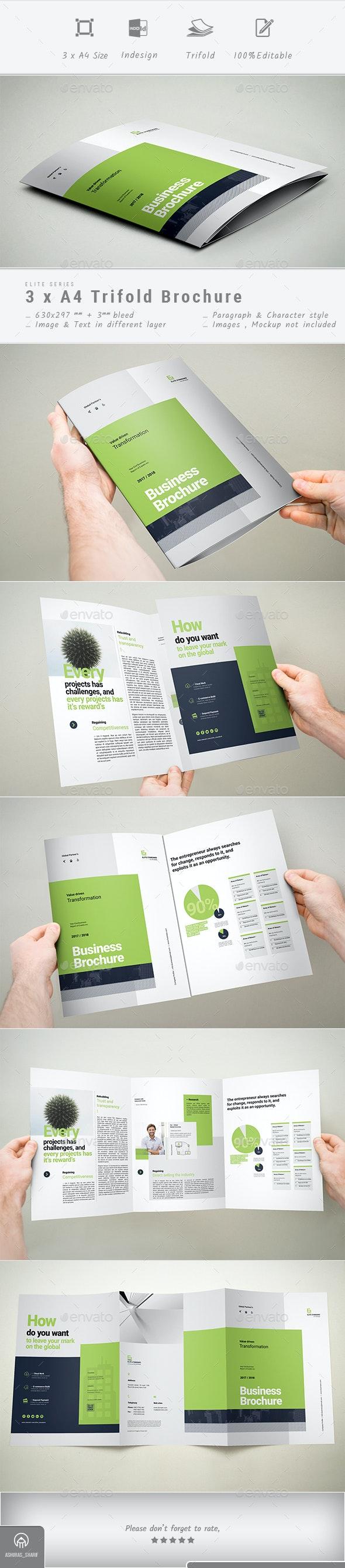3xA4 Trifold Brochure - Corporate Brochures