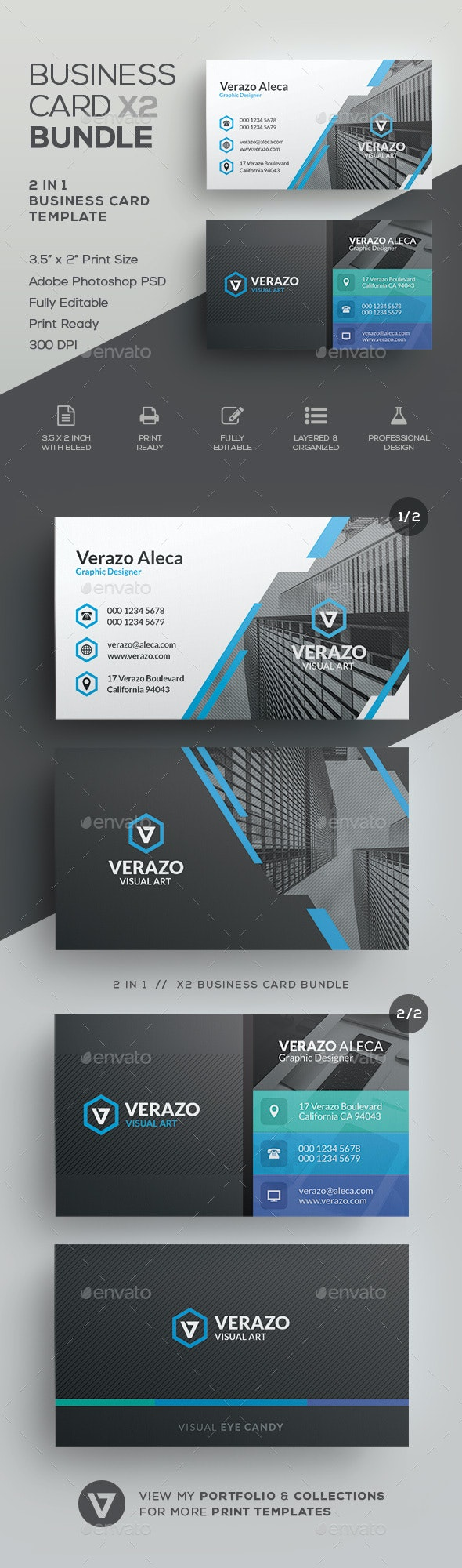 Business Card Bundle 55 - Corporate Business Cards