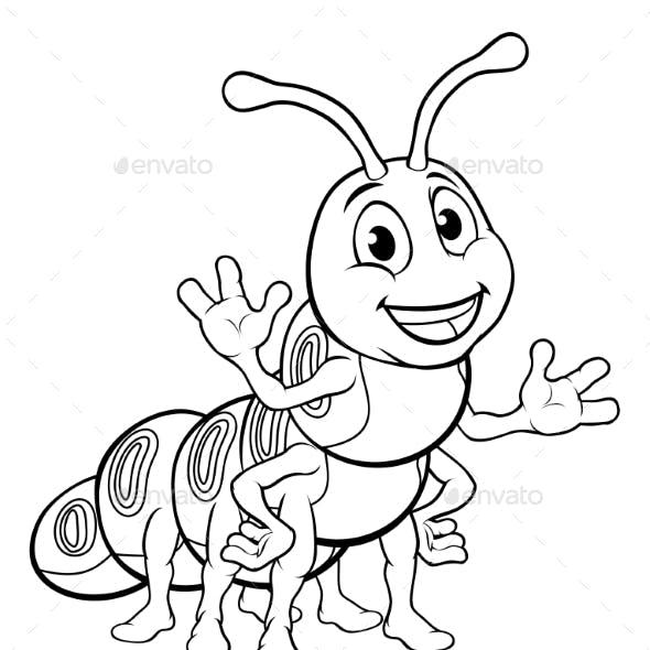 Caterpillar Animal Cartoon Character