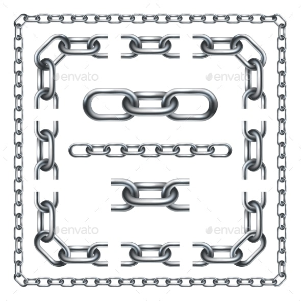 Chain Links Set - Borders Decorative