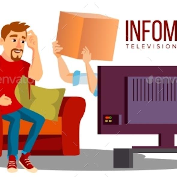 Infomercial, Shop On The Sofa, Man Sitting