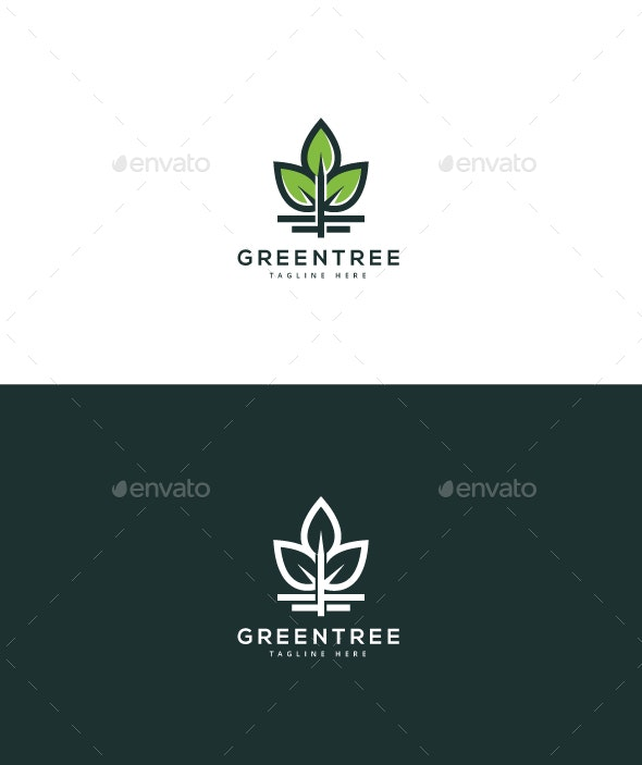 Green Tree Logo - Nature Logo Templates