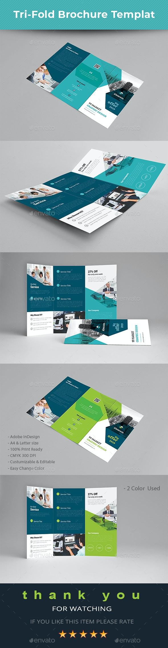 Trifold Brochure Templat - Brochures Print Templates