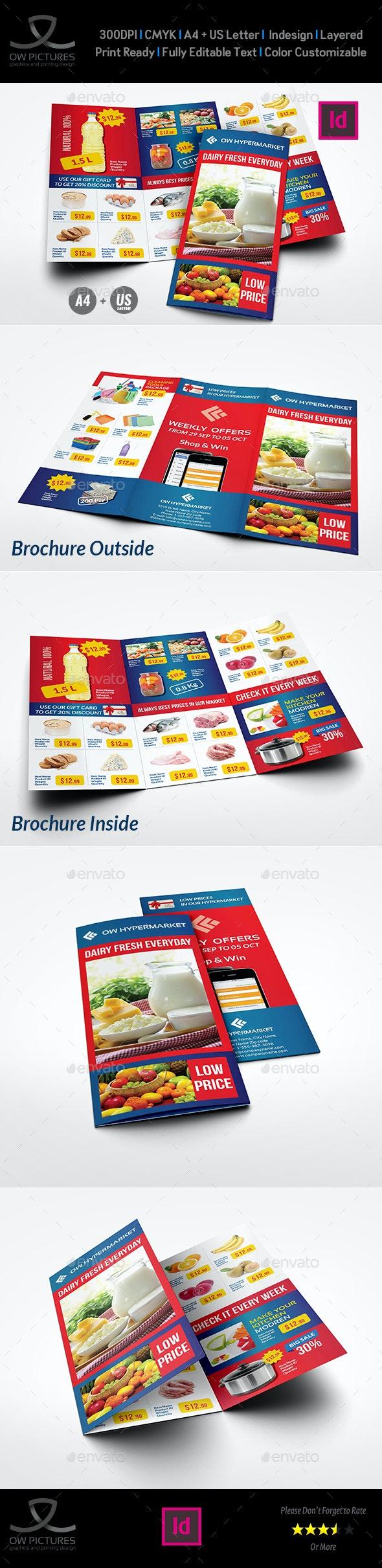 Supermarket Products Tri-Fold Catalog Brochure Template Vol.3 - Catalogs Brochures