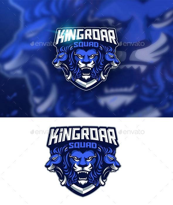 Kingroar Mascot logo - Logo Templates