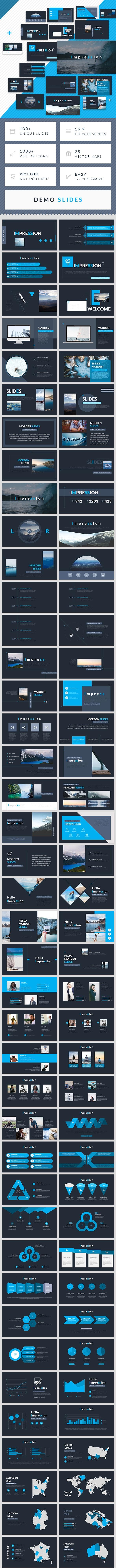Impression - Minimal Simple Google Slides Template - Google Slides Presentation Templates