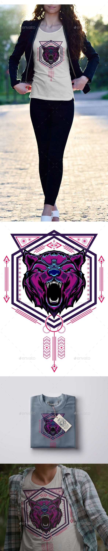 Bear Head Illustration - Animals Characters