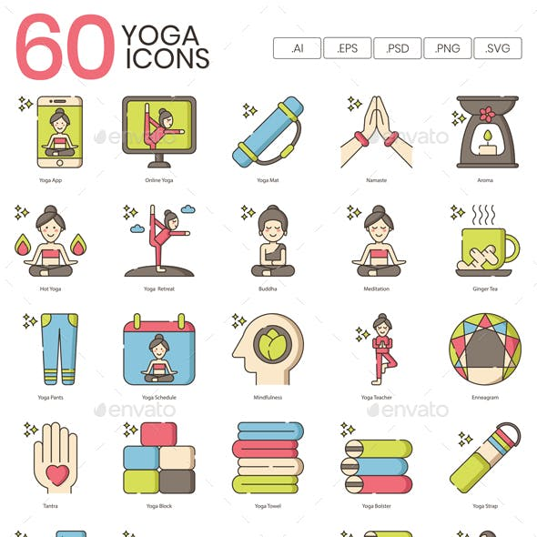 Yoga Lifestyle Icons