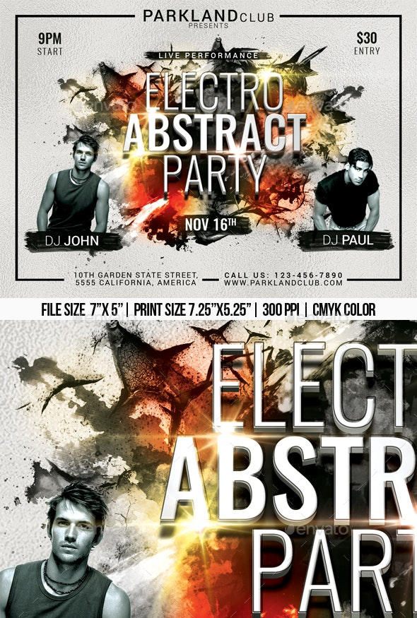 Electro Abstract Party - Clubs & Parties Events
