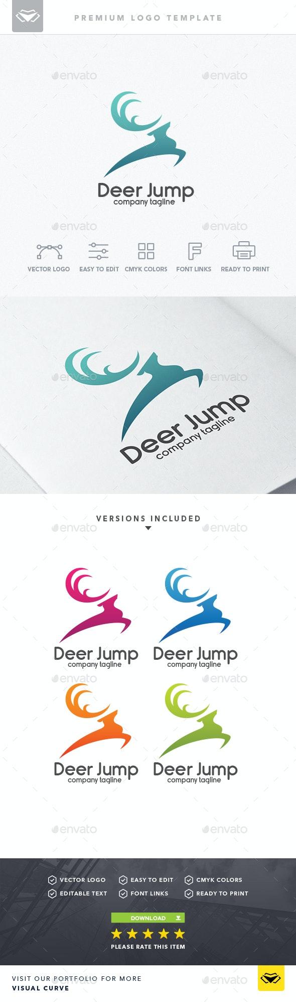 Deer Jump Logo - Logo Templates