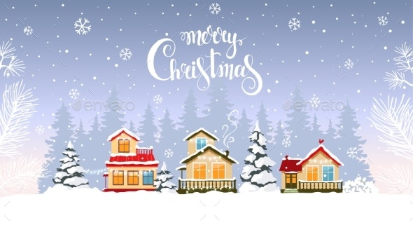 House Winter Background - Christmas Seasons/Holidays