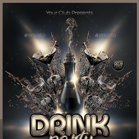 Drink Party Flyer