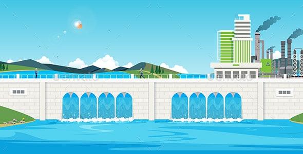 Dam - Buildings Objects