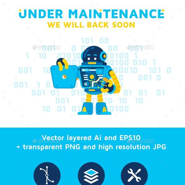 Error 404 Page Under Maintenance