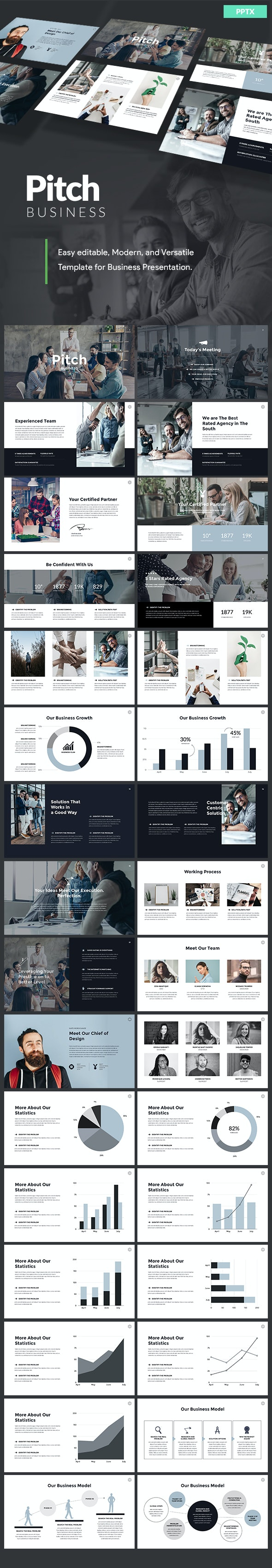 Business Pitch - Powerpoint Template - PowerPoint Templates Presentation Templates